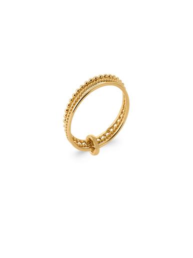 Bague travaillée plaqué or - Balsamik - Plaque or