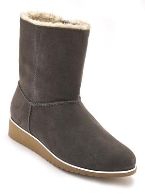 Boots zippés fourrées