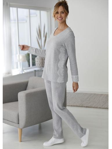 Pyjama doux et chaud - Balsamik - Gris chiné