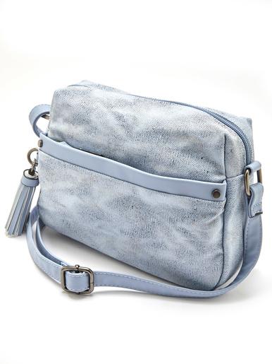 Petit sac forme pochette à bandoulière - Balsamik - Bleu ciel