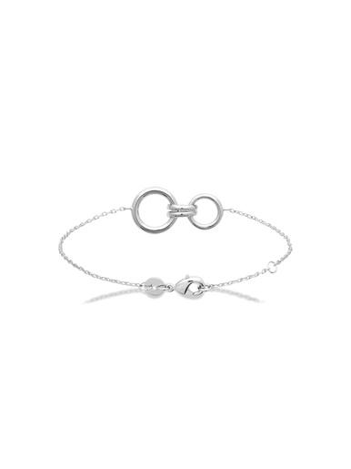 Bracelet argent rhodié - Maison de la bijouterie - Argent