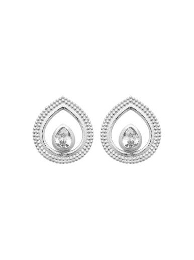 Boucles d'oreilles argent rhodié - Maison de la bijouterie - Argent