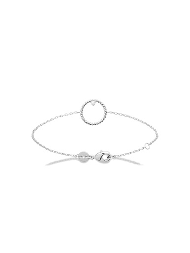 Bracelet argent rhodié et zirconia blanc - Maison de la bijouterie - Argent