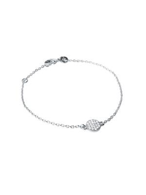 Bracelet argent rhodié et zirconia blanc