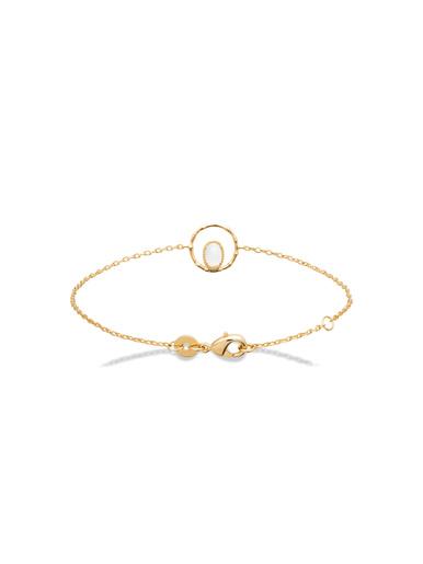 Bracelet plaqué or pierre de lune - Maison de la bijouterie - Plaqué or