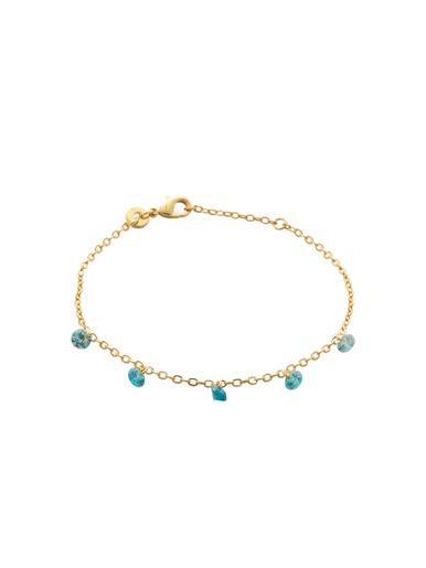 Bracelet plaqué or et zirconia blanc - Maison de la bijouterie - Plaqué or