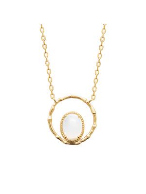 Collier plaqué or pierre de lune