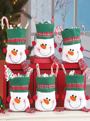 2 pochettes déco Noël pour confiserie