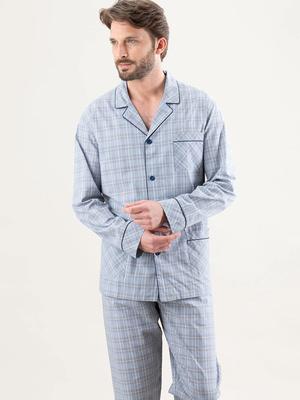 Pyjama long ouvert homme